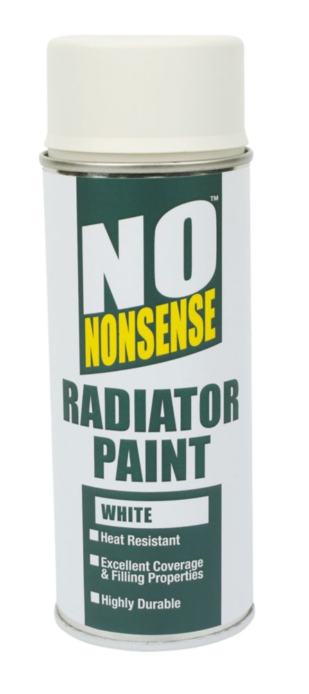 No Nonsense Radiator Paint Gloss White 400ml