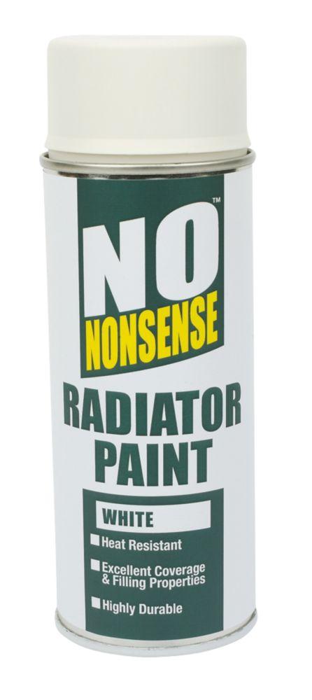 No Nonsense Radiator Paint Gloss White 400ml