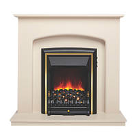 Be Modern Lusso Eco Electric Suite Ivory Effect