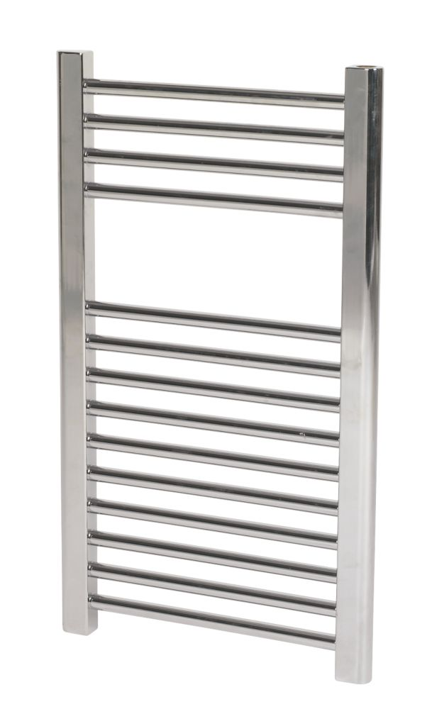 Flat Ladder Towel Radiator Chrome 400 x 700mm 176W 601Btu