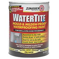 Zinsser Masonry Waterproofing Paint White 5Ltr
