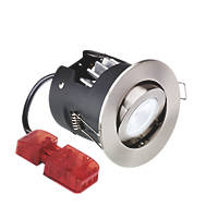 Aurora Fire Rated Adjustable M10 LED Downlight IP20 Satin Nickel 10W