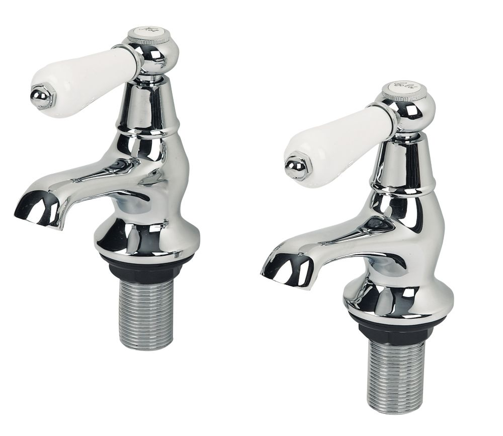 Swirl Period Lever Bath Taps Pair