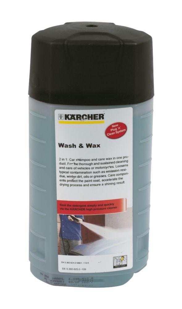 Karcher Plug & Clean Wash & Wax Detergent 1Ltr
