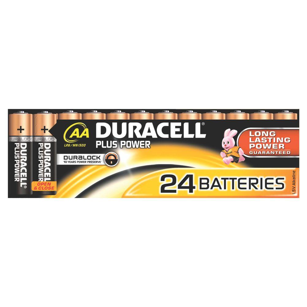 Duracell Alkaline AA Batteries Pack of 24