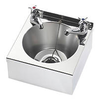 Franke Model A Wall-Hung Washbasin 2 Taps S/Steel 1-Bowl 305 x 270mm