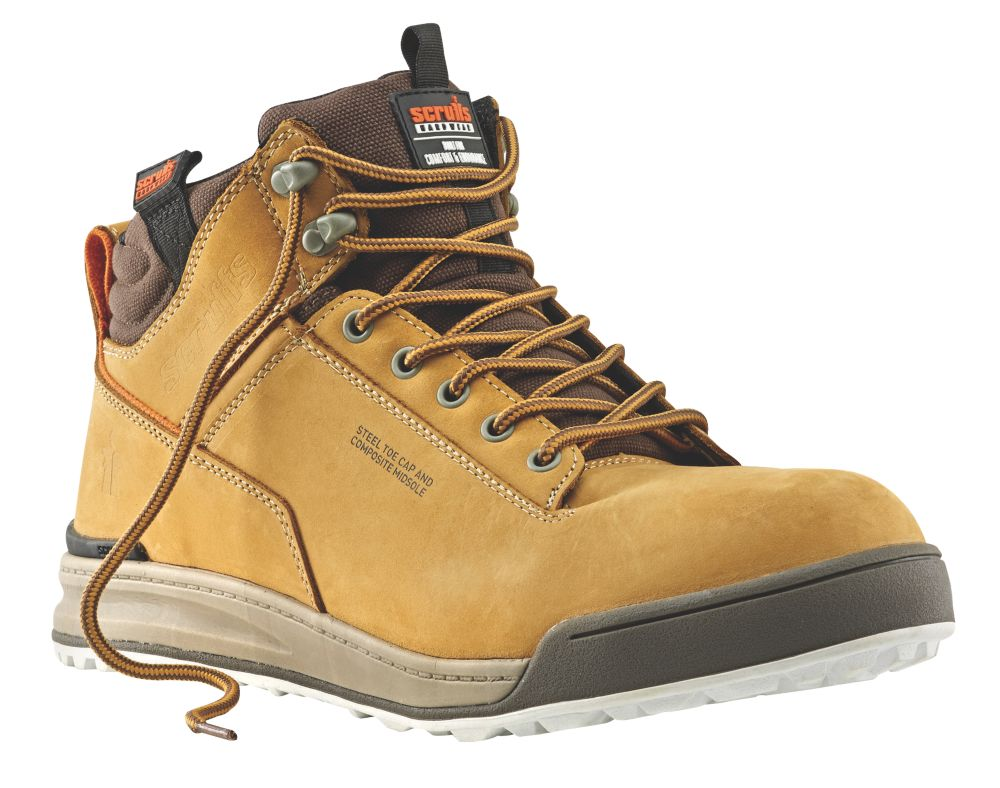 Scruffs Switchback Safety Boots Tan Size 8