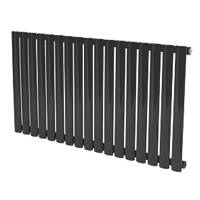 Reina Neva Horizontal Designer Radiator Black 550 x 413mm