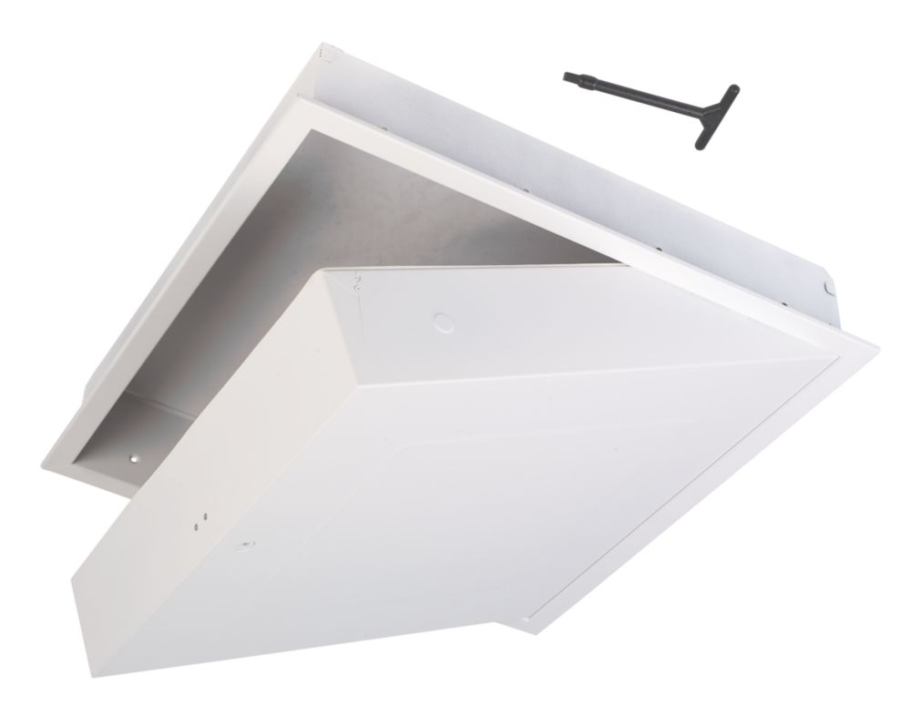GL270F Drop Down Fire Rated Loft Access Door White 562 x 562mm