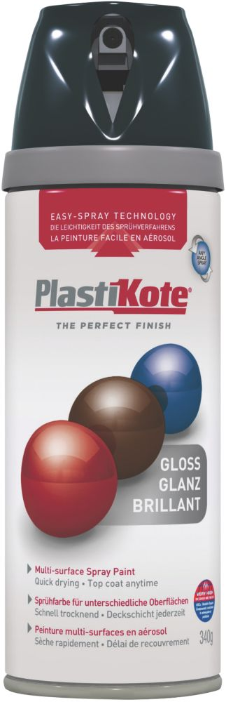 Plasti-Kote Premium Spray Paint Gloss Black 400ml