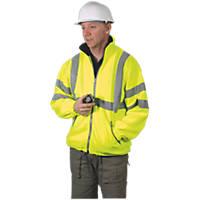 "Dickies Hi-Vis Fleece Jacket Saturn Yellow X Large 48-50"" Chest"