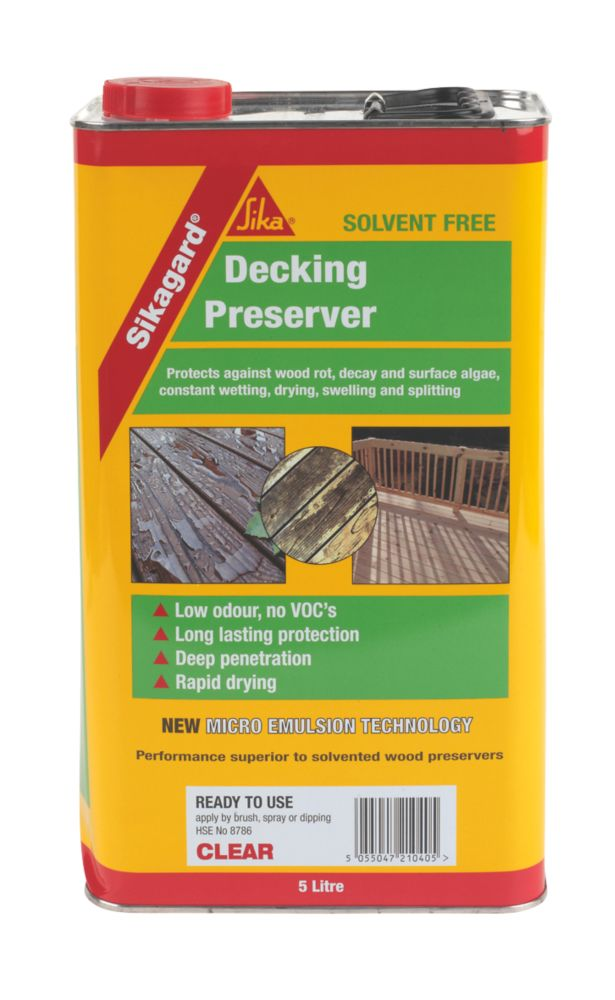 Sikagard Decking Preserver Clear 5Ltr