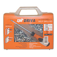 Spit Driva TP12 Self-Drill Plasterboard Fixing Case & Screwdriver 8 x 35mm 200 Pack