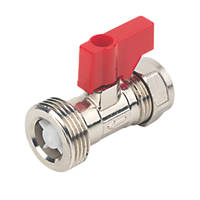 Washing Machine Valve With Check Valve 15mm x ¾""