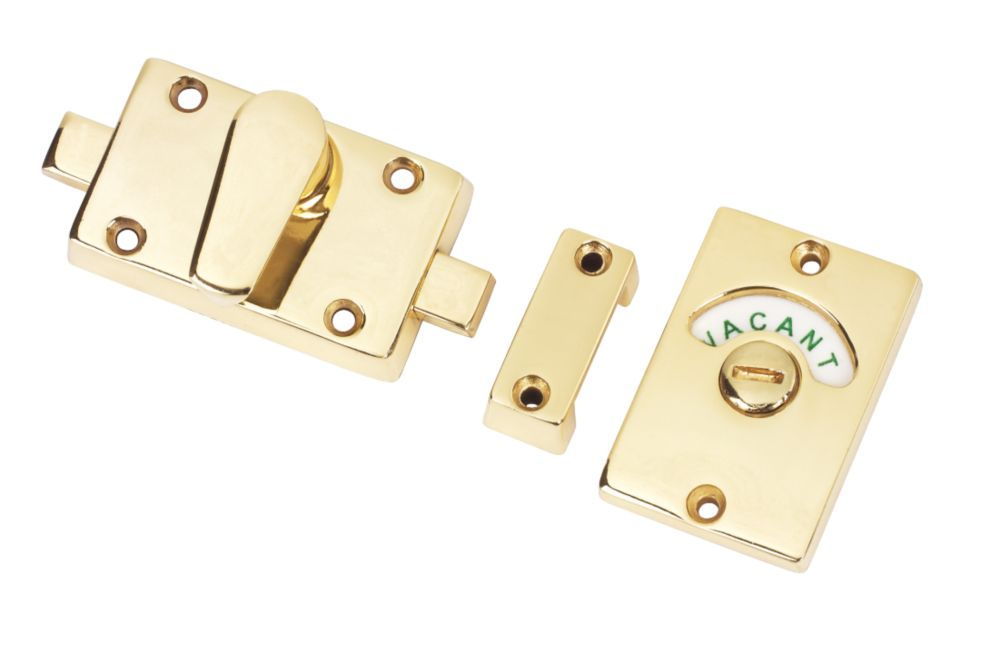 Bathroom Indicator Bolts Polished Brass