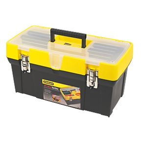 stanley 19 clear lid tool box plastic toolboxes. Black Bedroom Furniture Sets. Home Design Ideas