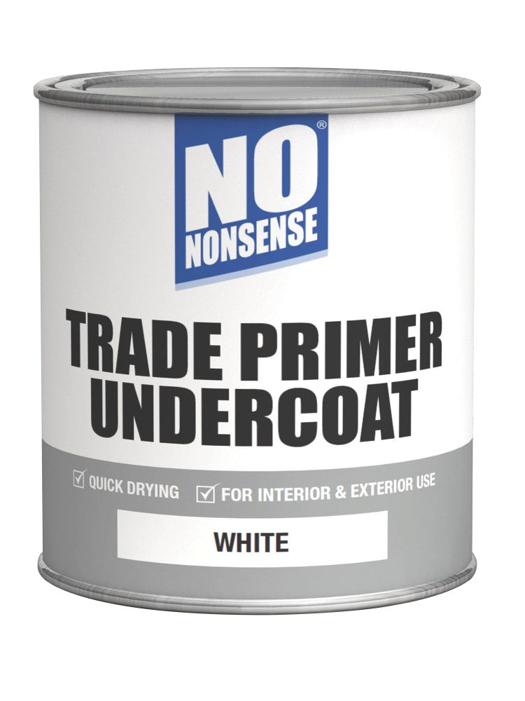 No Nonsense Quick-Drying Primer Undercoat White 750ml