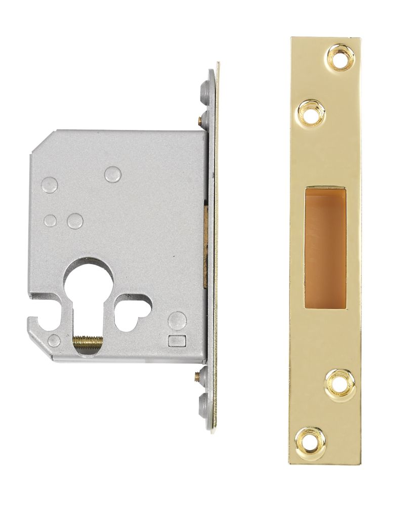 "Securefast Euro Cylinder Deadlock Brass 2½"" (64mm) Backset"