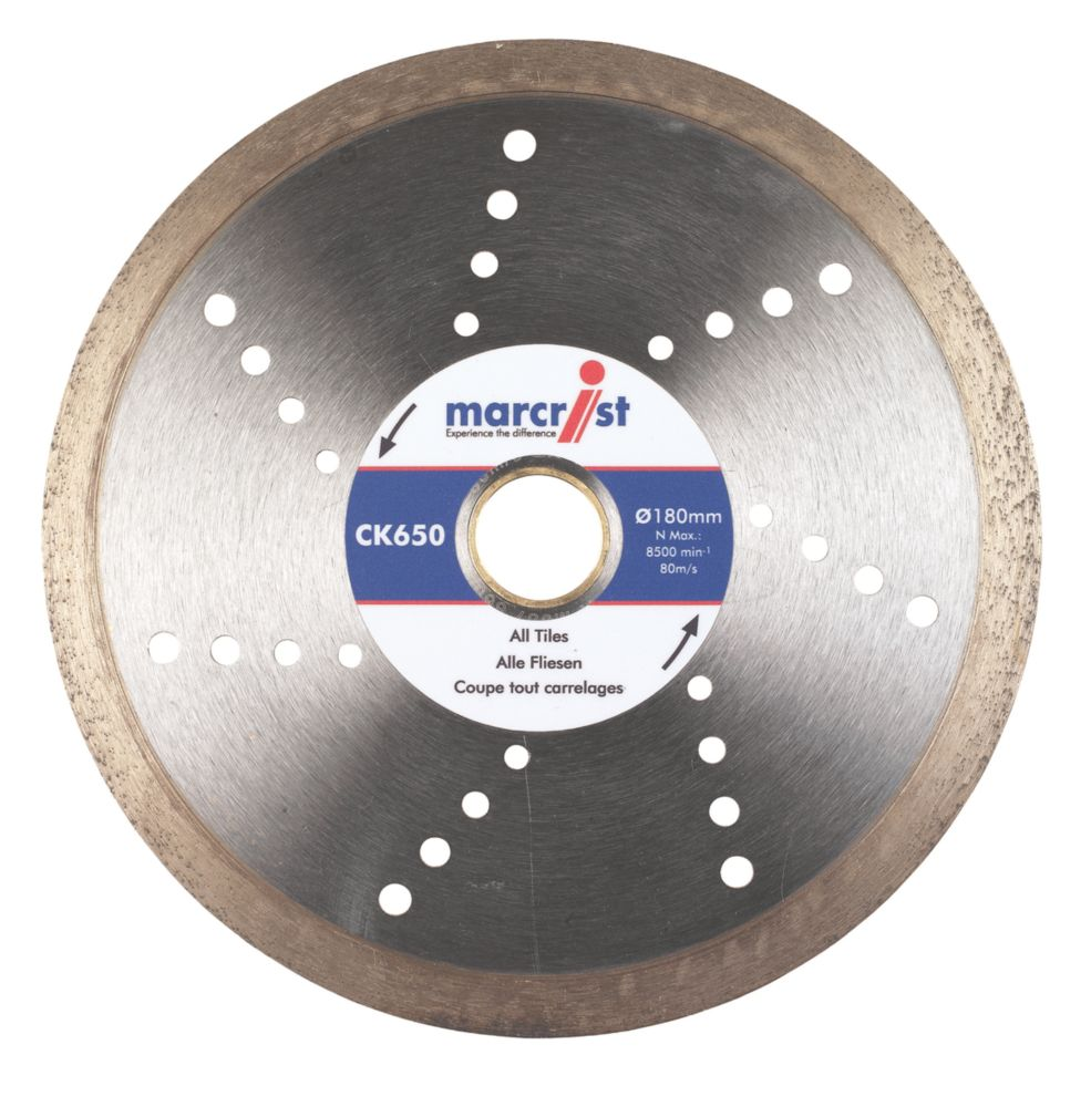 Marcrist CK650 Tile Cutting Diamond Blade 180 x 22.23mm