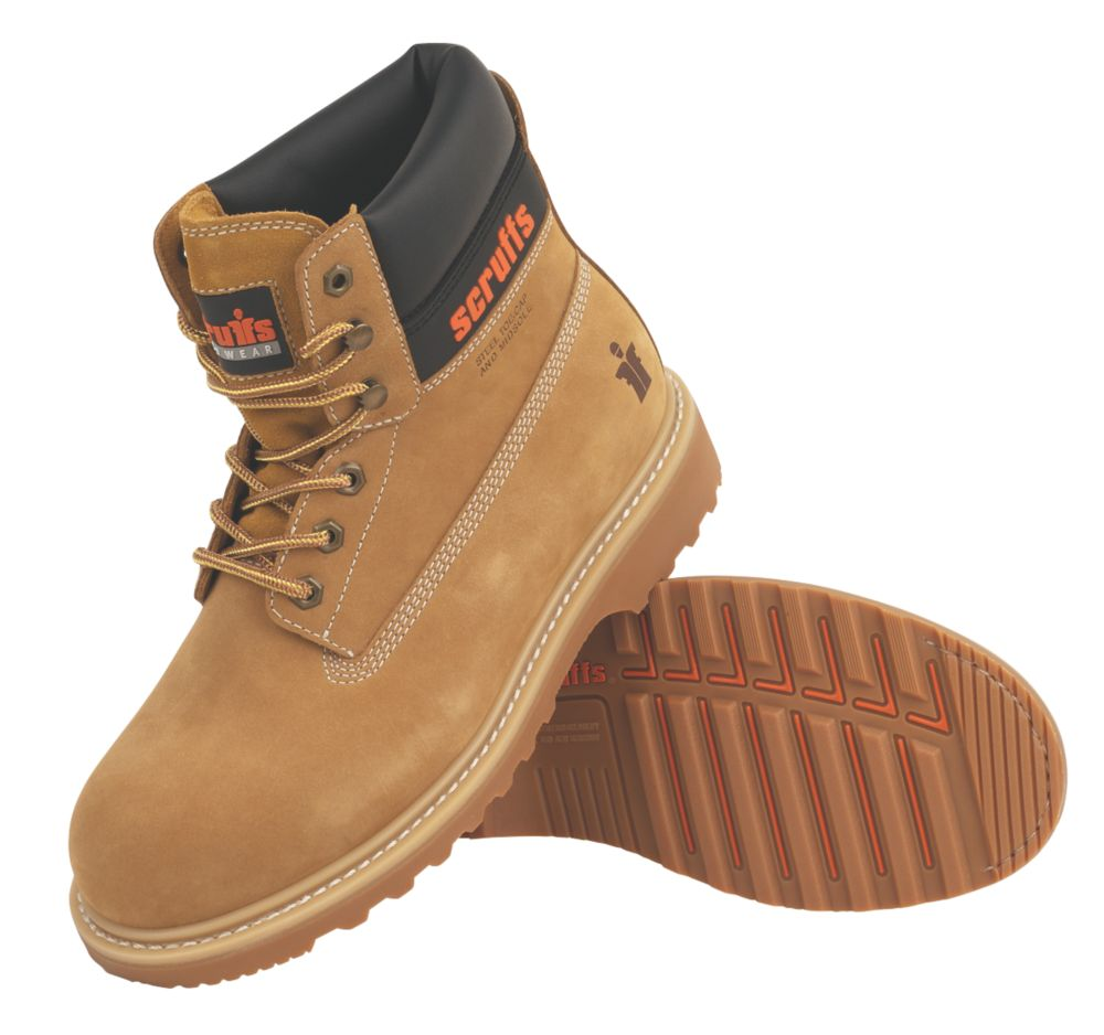 Scruffs Stratus Safety Boots Tan Size 8