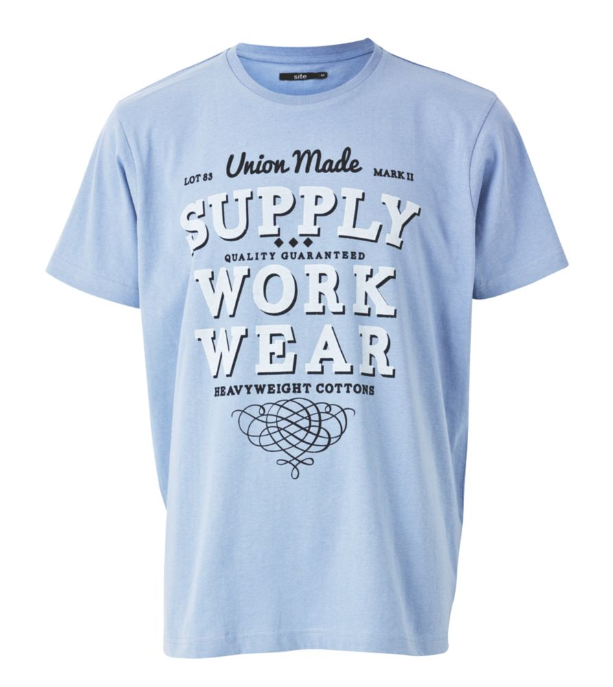 """Site Wings T-Shirt Blue X Large 45-48"""" Chest"""