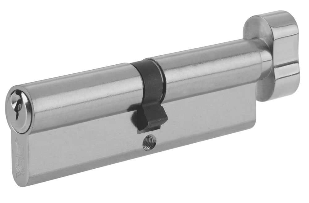 Yale KM Series Euro Thumbturn Cylinder Lock 35-35 (70mm) Satin Nickel