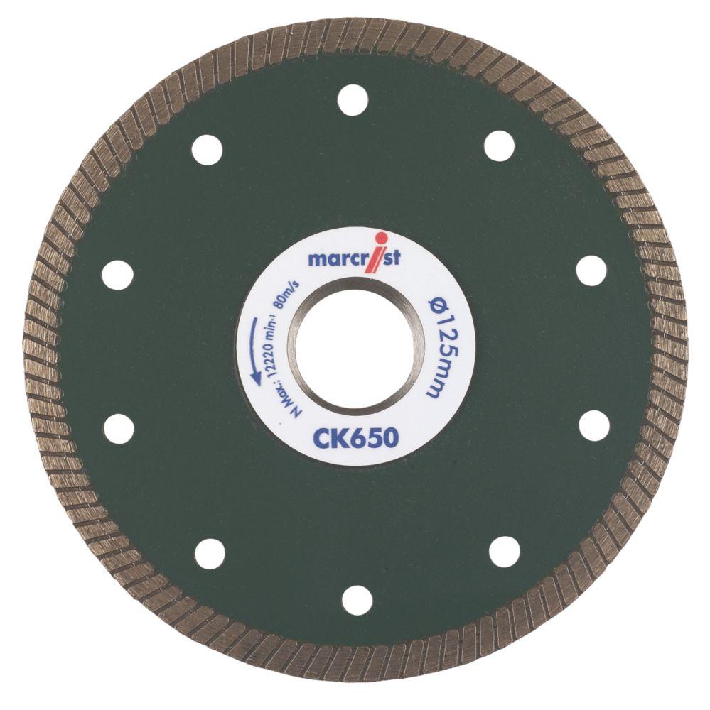 Marcrist CK650 Tile Cutting Diamond Blade 125 x 22.23mm