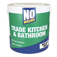 No Nonsense Kitchen & Bathroom Emulsion Paint Brilliant White 2.5Ltr