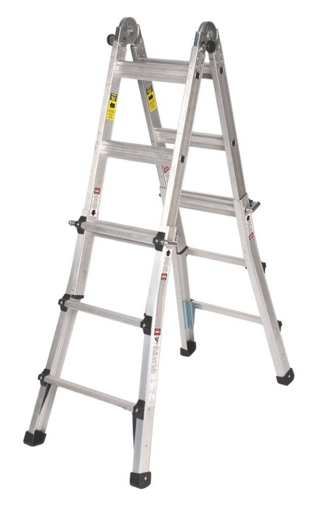 Aluminium Telescopic Ladder 2 x 5-Tread