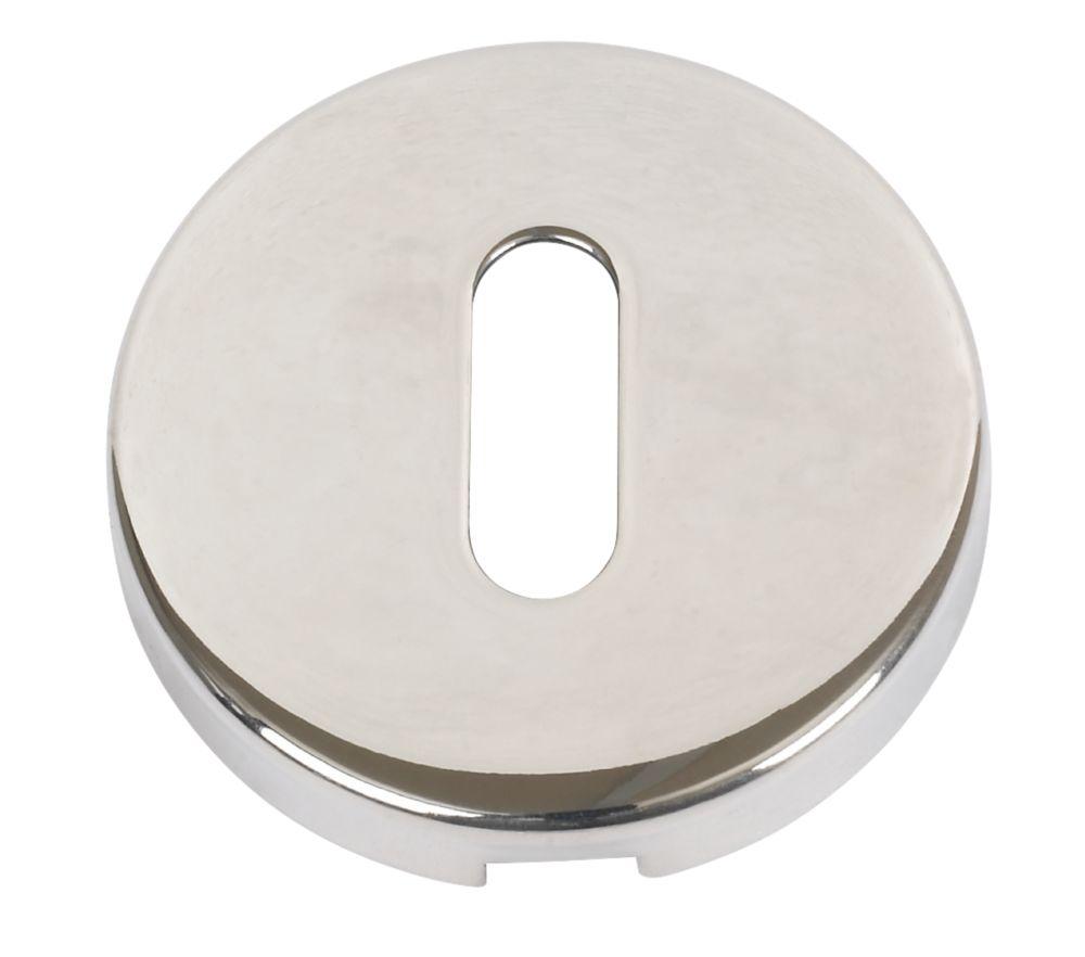 Standard Keyway Escutcheon Polished Aluminium 52mm Pack of 2