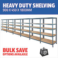 Heavy Duty Shelving 900 x 450 x 1800mm