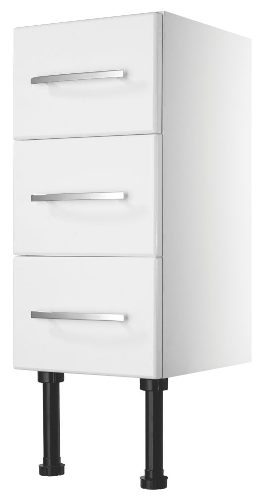 Kobe Bathroom Base Unit 3-Drawer White 300 x 600mm