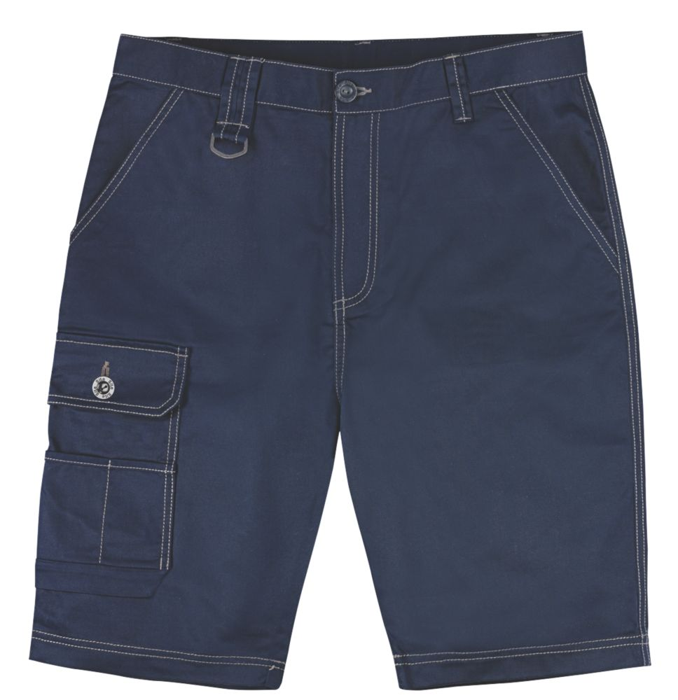 "Site Setter Work Shorts Navy 32"" W"