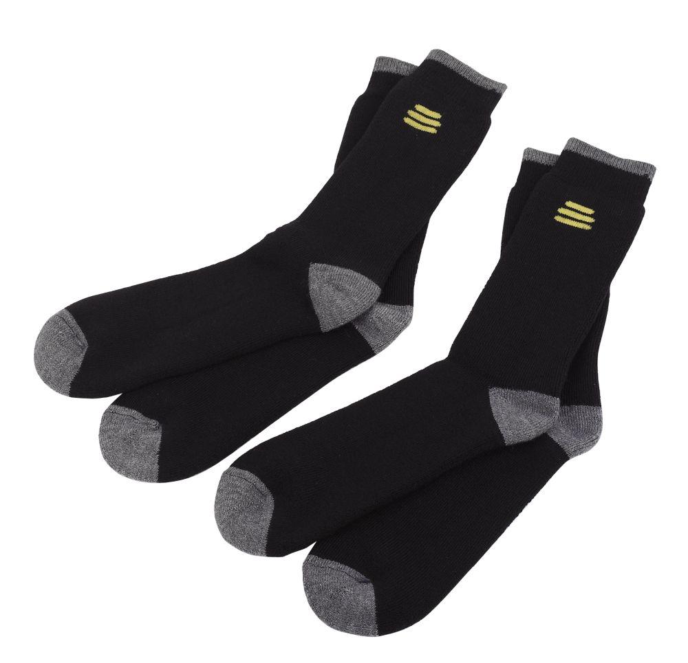 DeWalt Socks 2 Pairs Black Size 6-12