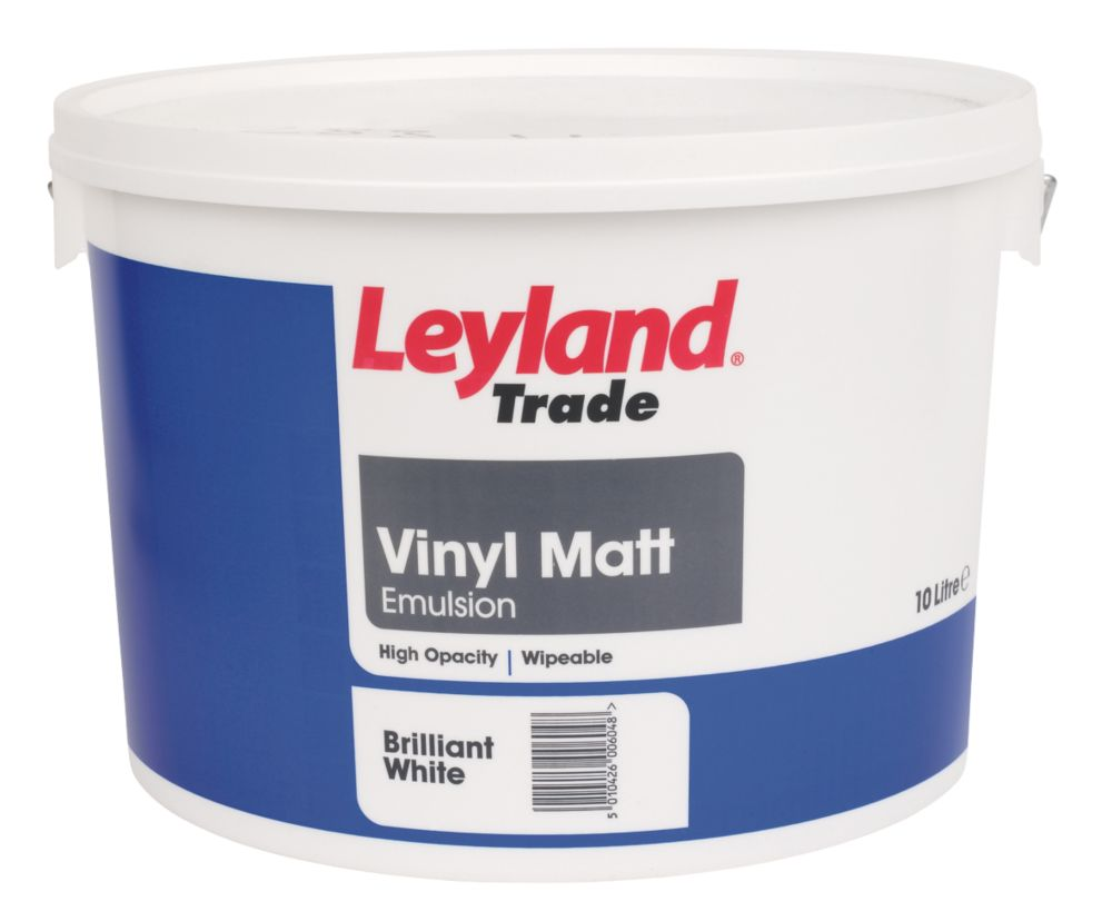Leyland Vinyl Matt Emulsion Paint Brilliant White 10Ltr