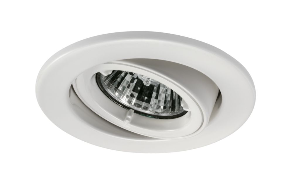 JCC Fireguard Adjustable Fire Rated Recessed Downlight White 240V