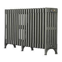Arroll Victorian 6-Column Cast Iron Radiator Cast Grey 625 x 1070mm