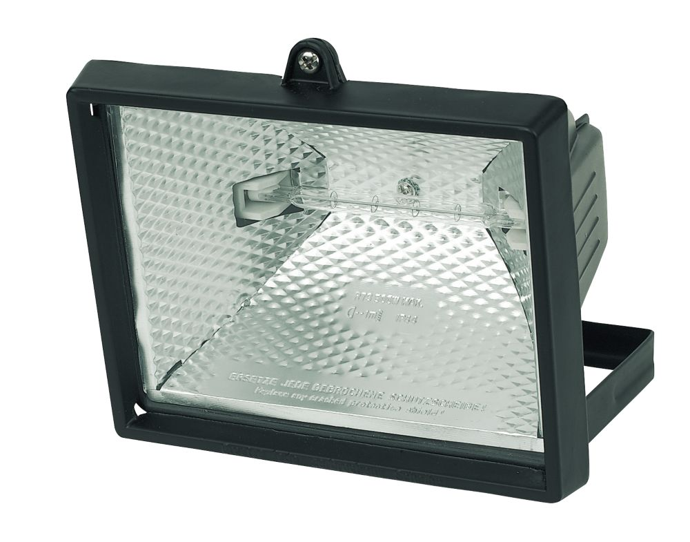 Security Floodlight 400W Black 4000Lm