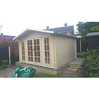 Shire Epping 3 Log Cabin Assembly Included 3.5 x 3.5m