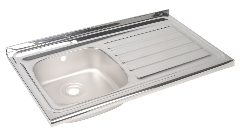 Astracast Sit On Stainless Steel 1 Bowl Kitchen Sink with Drainer R Hand
