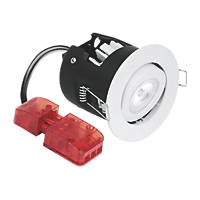 Aurora Fire Rated Adjustable M10 LED Downlight IP20 Matt White 10W