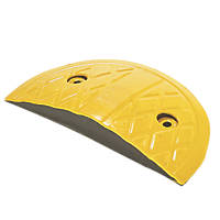 Mottez Speed Bump End Cap Yellow 50mm