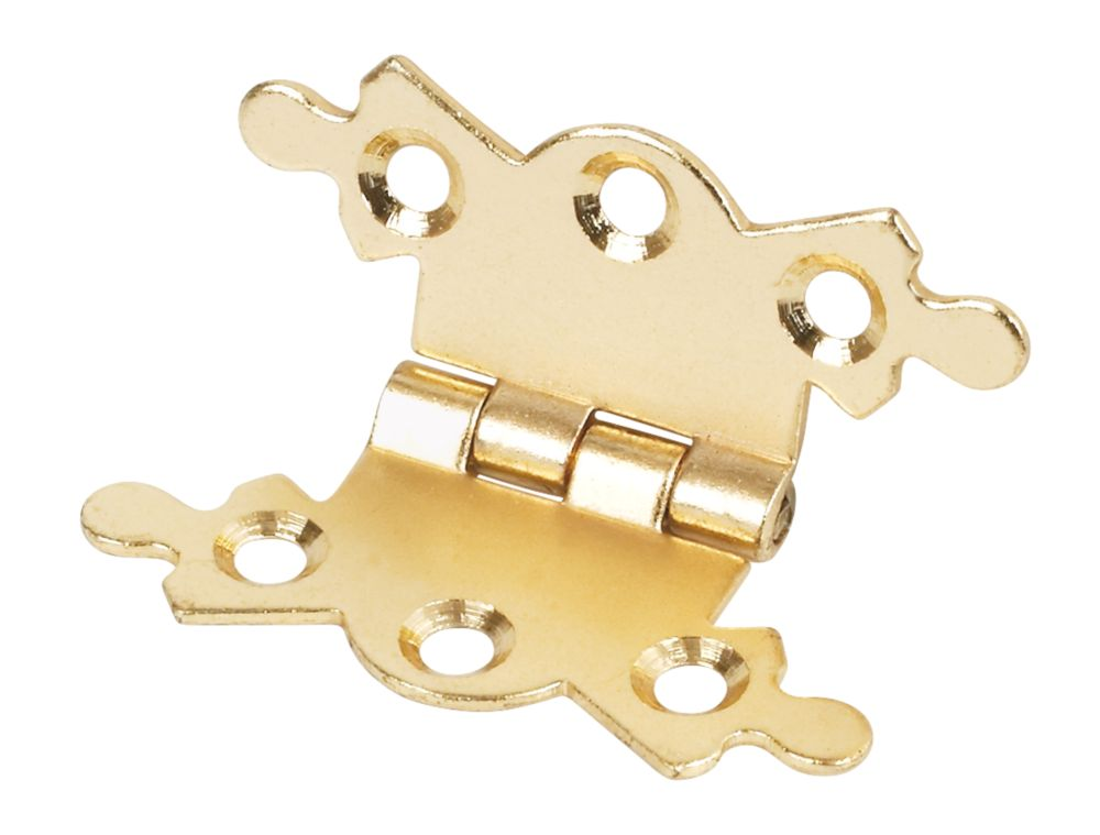 Butterfly Hinges Electro Brass 42 x 36 x 1mm Pack of 20