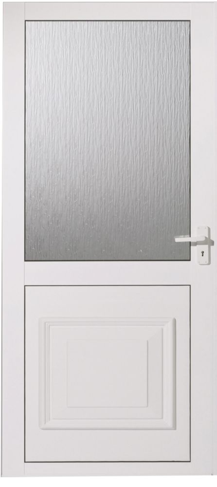 Cumbria White Double-Glazed Aluminium Back Door LH 762 x 1981mm