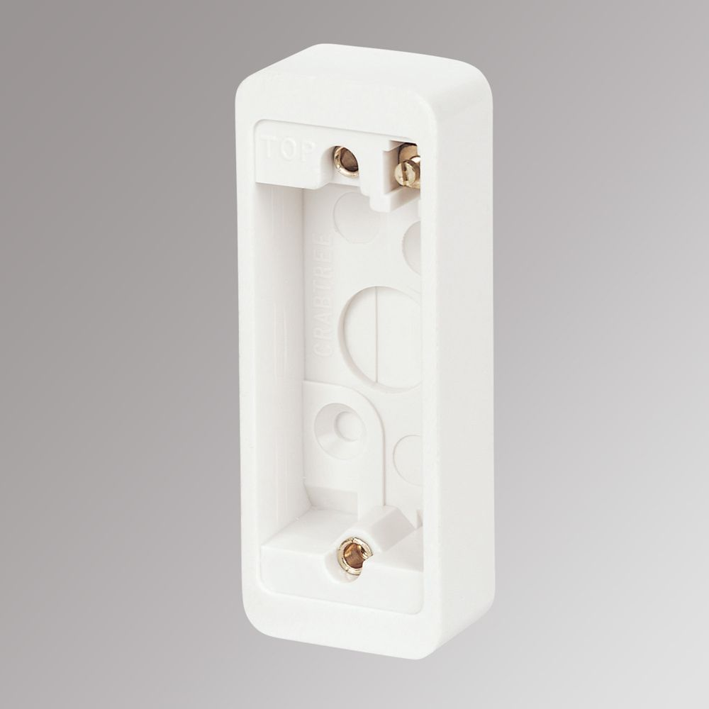 Crabtree 1-Gang Architrave Surface Back Box