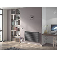 Ximax Fortuna Horizontal Double-Panel Designer Radiator Anthracite 584 x 1200mm