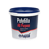 Polycell Trade Polyfilla All-Purpose Ready Mix Filler White 2kg