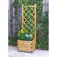 Grange Square Wooden Planter  400 x 400 x 1220mm