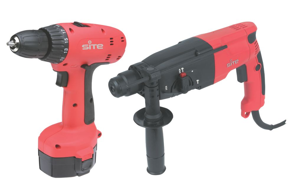 240V 2.3kg SDS Plus Drill & 14.4V Drill Driver Twin Pack