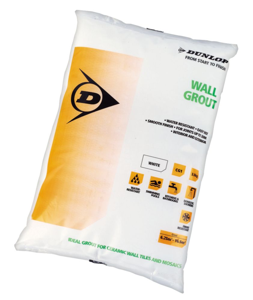 Dunlop Wall Grout White 3.5kg